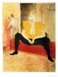 Seated Female Clown, Mlle. Cha-U-Kao, 1896 Giclee Print by Henri de Toulouse-Lautrec