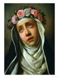St. Rose of Lima Gicle-tryk af Carlo Dolci