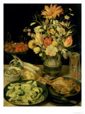 Still Life with Flowers Giclee Print by Georg Flegel