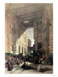"Bazaar of the Silk Merchants, Cairo, from ""Egypt and Nubia,"" Vol.3 Premium Giclee Print by David Roberts"