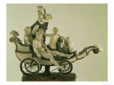 Chariot with Silenus, Ivory Sculpture, Munich, Second Quarter of the 18th Century Giclee Print by Simon Troger