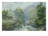 Old Disused Mill, Dolgelly Giclee Print by William Henry Mander