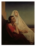 St. Augustine and His Mother St. Monica, 1855 Giclee Print by Ary Scheffer