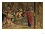 The Sorcerer Elymas Struck Blind by St. Paul Before the Roman Governor Sergius Paulus Giclee Print