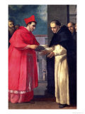 A Cardinal Gives a Bull to a Dominican Saint Giclee Print by Donato Mascagni
