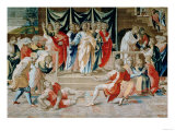 The Death of Anianus from the Brussels Tapestries Giclee Print