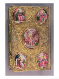 Altar Gospel of Elaborately Worked Silver Inset with Enamel Medallions Giclee Print