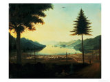 The Encampment at Lake George, New York, 1759 Giclee Print by Thomas Davies