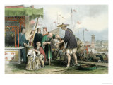 "Chinese Cat Merchants, from ""China in a Series of Views"" by George Newenham Wright 1843 Giclee Print by Thomas Allom"