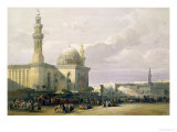 "Mosque of the Sultan Hasan from the Great Square of Rumeyleh, Cairo, from ""Egypt and Nubia,"" Vol.3 Giclee Print by David Roberts"