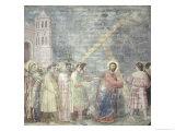 The Road to Calvary, circa 1305 Giclee Print by  Giotto di Bondone