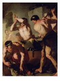 Vulcan&#39;s Forge, circa 1660 Giclee Print by Luca Giordano