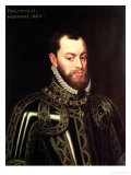 Portrait of King Philip II of Spain Giclee Print by Juan Pantoja De La Cruz