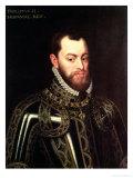 Portrait of King Philip II of Spain Giclee Print by Juan Pantoja De La Cruz
