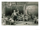 "Chinese Opium Smokers, from ""China in a Series of Views"" by George Newenham Wright 1843 Giclee Print by Thomas Allom"
