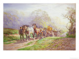A Logging Team Returning Home Giclee Print by Charles James Adams