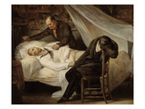 The Death of Theodore Gericault (1791-1824), with His Friends Colonel Bro De Comeres Giclee Print by Ary Scheffer