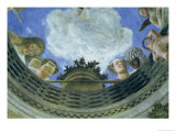 Trompe L'Oeil Oculus in the Centre of the Vaulted Ceiling of the Camera Degli Sposi Giclee Print by Andrea Mantegna