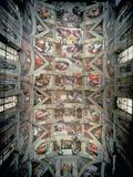 Sistine Chapel Ceiling, 1508-12 Giclee Print by  Michelangelo Buonarroti