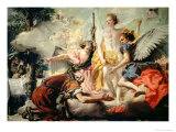 Abraham and the Three Angels Giclee Print by Giandomenico Tiepolo