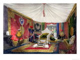 View of the Tented Room and Ivory Carved Throne Giclee Print by Peter Mabuse