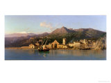 View of Taormina, Sicily, with Mount Etna in the Background, 1868 Giclee Print by Alessandro La Volpe