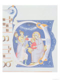 "Historiated Initial ""O"" Depicting the Adoration of the Magi Giclee Print by  Cimabue"