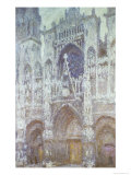 Rouen Cathedral, the West Portal, Dull Weather, 1894 Reproduction procédé giclée par Claude Monet