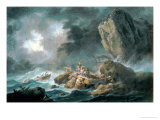 Seascape in a Storm Giclee Print by Jean Baptiste Pillement