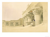"Temple of Horus, Edfu, from ""Egypt and Nubia,"" Vol.2 Premium Giclee Print by David Roberts"