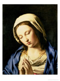 Madonna at Prayer Giclée-tryk af Giovanni Battista Salvi da Sassoferrato