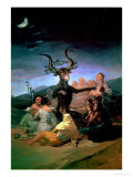 The Witches' Sabbath, 1797-98 Reproduction procédé giclée par Francisco de Goya