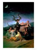 The Witches' Sabbath, 1797-98 Giclée-tryk af Francisco de Goya