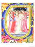 Historiated Initial &quot;U&quot; Depicting Pope Martin V Giclee Print by Bartolomeo Di Frusino 
