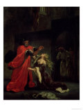Act I, Scene 3: Desdemona Kneeling at Her Father's Feet, 1852, Giclee Print, Eugene Delacroix
