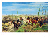 The Italian Camp at the Battle of Magenta, 1859 Giclee Print by Giovanni Fattori
