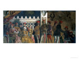 Marchese Ludovico Gonzaga III, His Wife Barbara of Brandenburg, Their Children Giclee Print by Andrea Mantegna