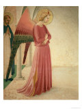 The Annunciation, Detail of the Angel Gabriel and St. Peter the Martyr, 1442 Giclee Print by  Fra Angelico