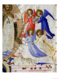 St. Dominic with Four Musical Angels, from a Gradual from San Marco E Cenacoli Giclee Print by Fra Angelico 