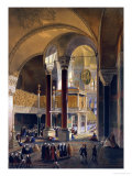 Hagia Sophia Plate 8: the Imperial Gallery and Box Giclee Print by Gaspard Fossati