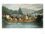 Ali Pasha of Janina Hunting on Lake Butrinto in March 1819 Giclee Print by Louis Dupré