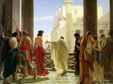 Ecce Homo Lmina gicle por Antonio Ciseri