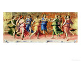 The Dance of Apollo with the Muses Giclée-tryk af Baldassare Peruzzi