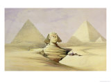 "The Great Sphinx and the Pyramids of Giza, from ""Egypt and Nubia,"" Vol.1 Giclee Print by David Roberts"