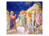 The Raising of Lazarus, circa 1305 (Pre-Restoration) Giclee Print by Giotto di Bondone 