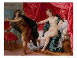 Joseph with Potiphar's Wife Reproduction procédé giclée par Hendrik van Balen the Elder