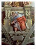 Sistine Chapel Ceiling: the Prophet Ezekiel, 1510 Giclee Print by  Michelangelo Buonarroti