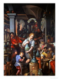 The Alchemist's Workshop, 1570 Giclee Print by Jan van der Straet