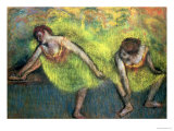 Two Dancers Relaxing Giclee Print by Edgar Degas