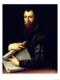 Portrait of the Engineer Luca Martini Giclee Print by Agnolo Bronzino